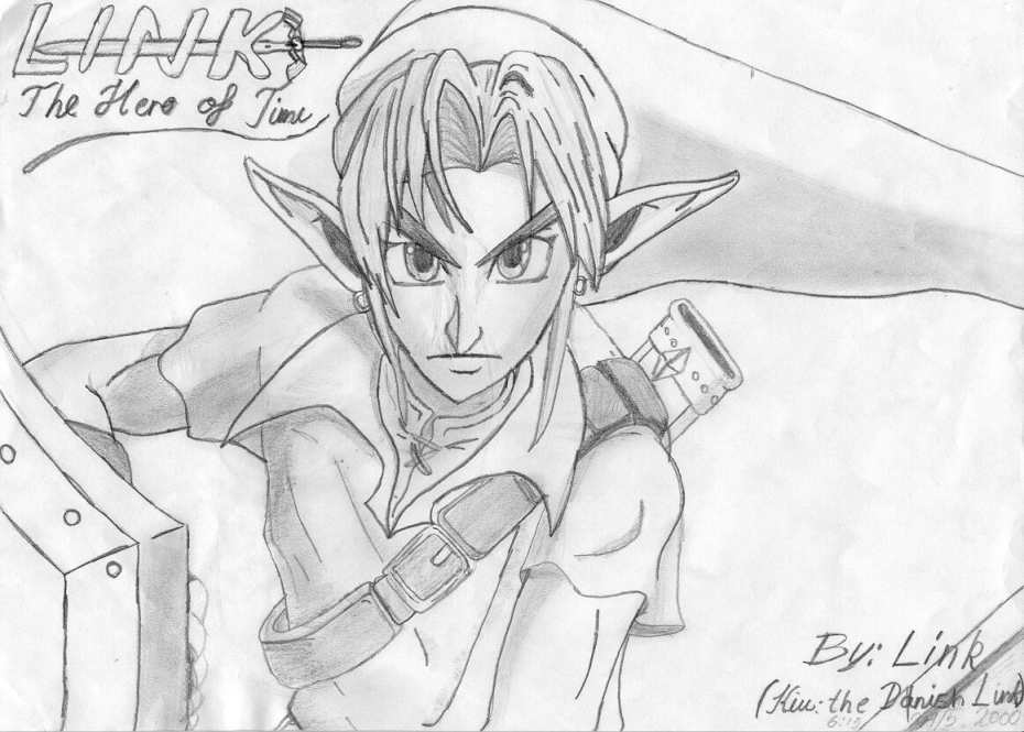 A Very Nice Drawing Of Link 930 Pixels X 665 56 Kilobytes