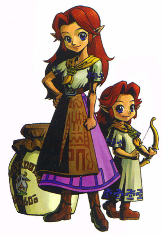 Malon as adult and child